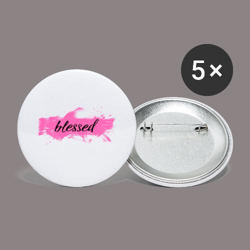 blessed spot pink - Buttons klein 25 mm (5er Pack)