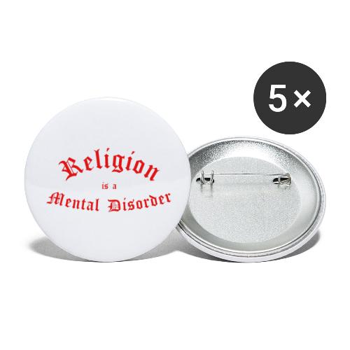 Religion is a Mental Disorder [# 2] - Buttons small 1''/25 mm (5-pack)