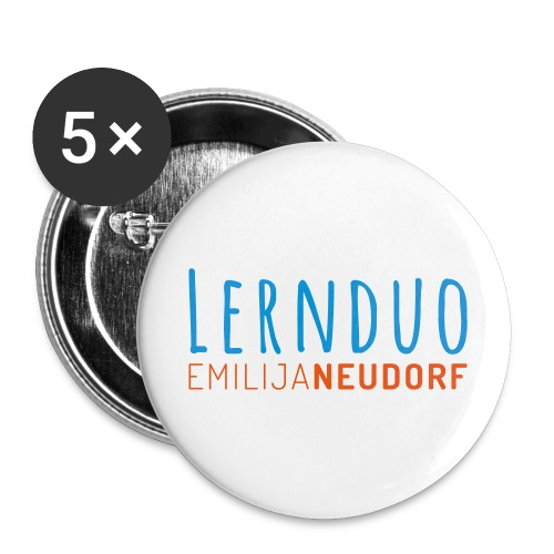 Lernduo - Buttons klein 25 mm (5er Pack)