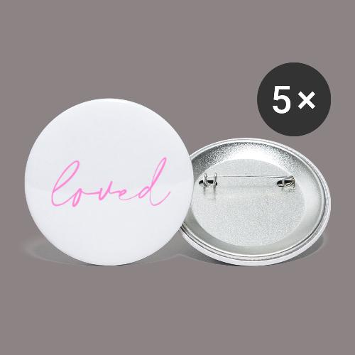 loved rosa - Buttons klein 25 mm (5er Pack)