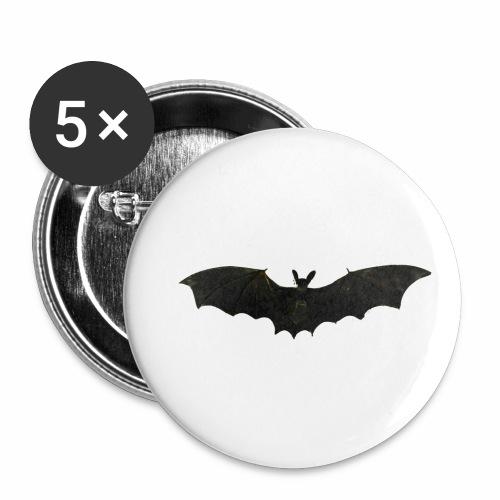 Fliegende Fledermaus - Buttons klein 25 mm (5er Pack)
