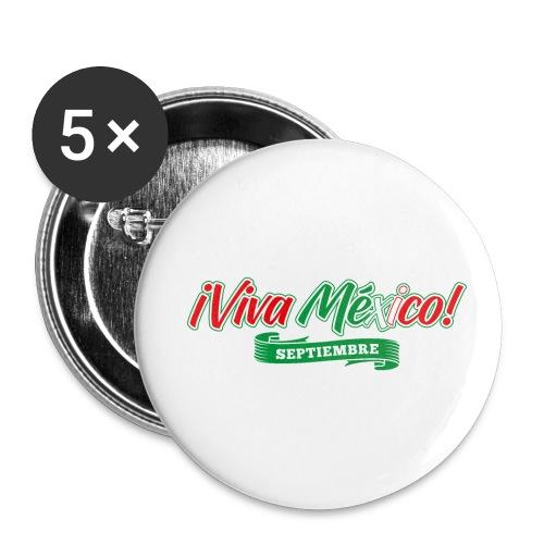 Viva Mexico - Paquete de 5 chapas pequeñas (25 mm)