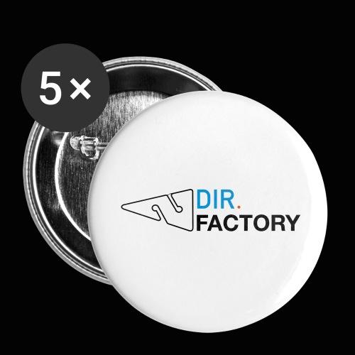 Logo mit Arrow DESIGN - Buttons klein 25 mm (5er Pack)