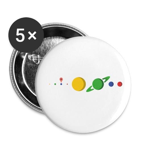 Kugel Maps - Buttons klein 25 mm (5er Pack)