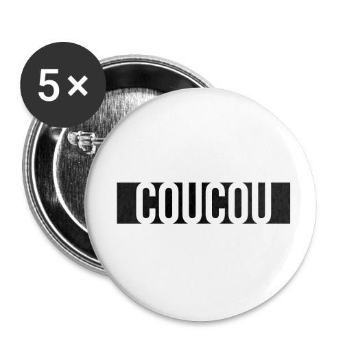 Coucou [1] Black - Lot de 5 petits badges (25 mm)