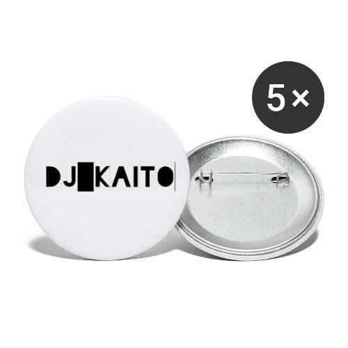 dj kaito logo - Buttons small 1''/25 mm (5-pack)
