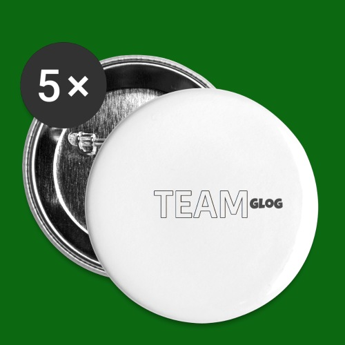 Team Glog - Buttons small 1''/25 mm (5-pack)