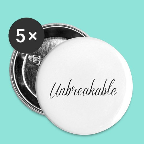 Unbreakable - Buttons klein 25 mm (5-pack)