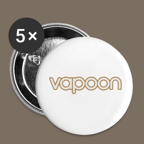 Vapoon Logo simpel 2 Farb - Buttons klein 25 mm (5er Pack)