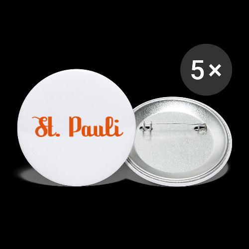 St. Pauli Logotype - Buttons klein 25 mm (5er Pack)