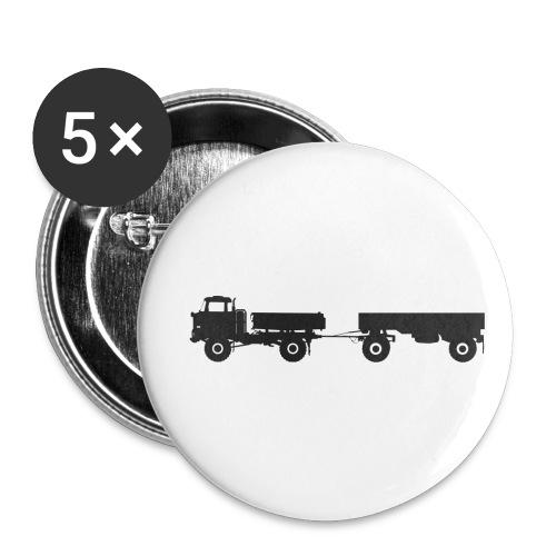 IFA LKW W50 LA 3 SK mit HW80 - Buttons klein 25 mm (5er Pack)