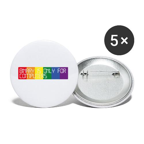 Binary is only for computers - Buttons small 1''/25 mm (5-pack)