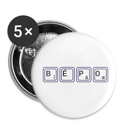 bépo - Lot de 5 petits badges (25 mm)