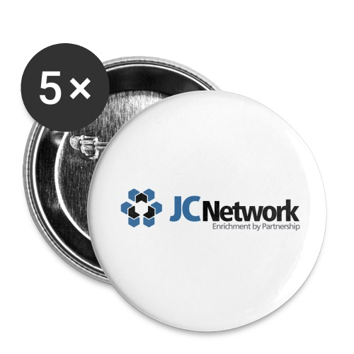 JCNetwork Merchandise - Buttons klein 25 mm (5er Pack)