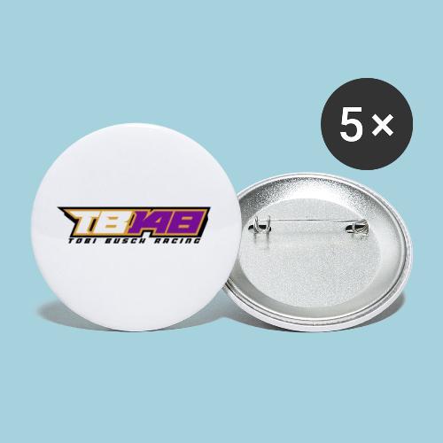 Tobi Logo schwarz - Buttons klein 25 mm (5er Pack)