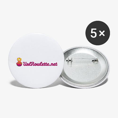 UrlRoulette Logo - Buttons small 1''/25 mm (5-pack)