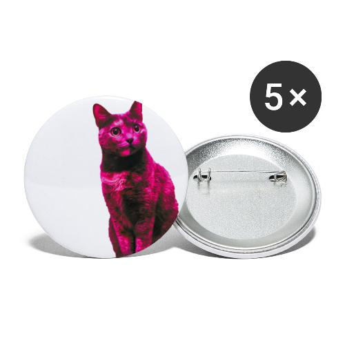Gatto - Confezione da 5 spille piccole (25 mm)