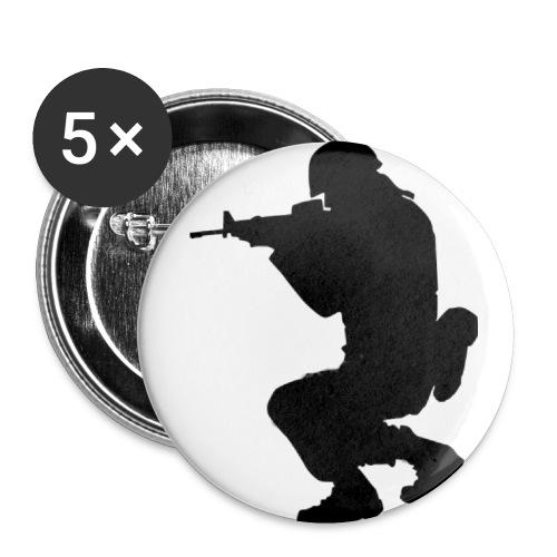 ist2 724967 soldier silhouette - Buttons klein 25 mm (5er Pack)