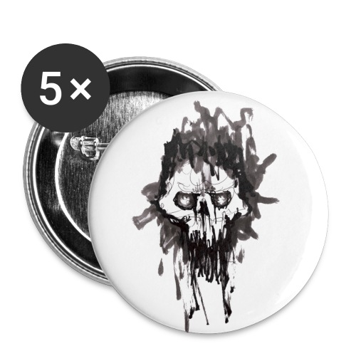 Skullface - Buttons small 1''/25 mm (5-pack)