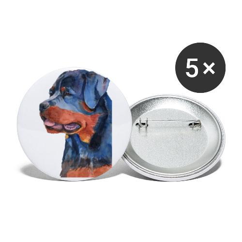 rottweiler - F - Buttons/Badges lille, 25 mm (5-pack)