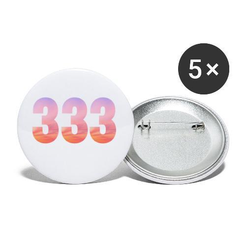 333 vous étes entouré de maitres ascensionnés - Lot de 5 petits badges (25 mm)