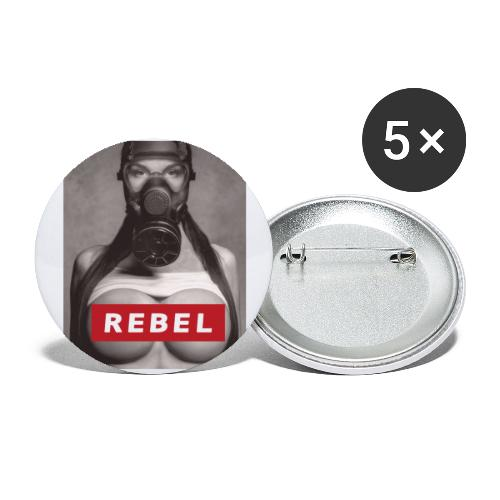 postapocalyptic rebel - Buttons klein 25 mm (5er Pack)