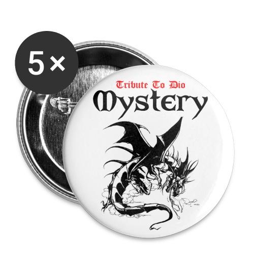 mystery blanc png png - Lot de 5 petits badges (25 mm)