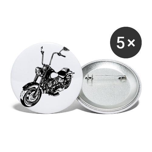Moto Softail - Paquete de 5 chapas pequeñas (25 mm)
