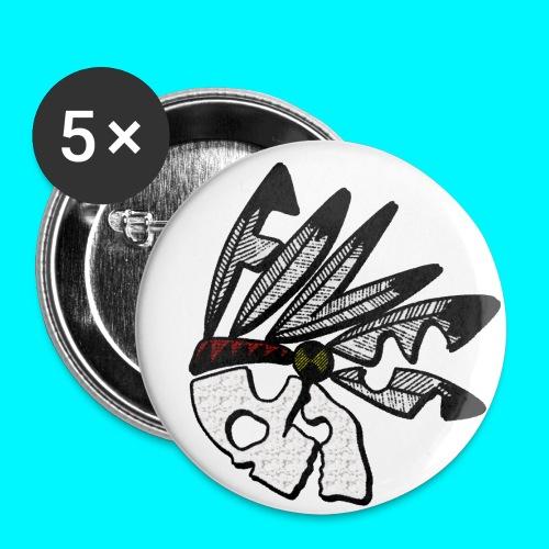 FIVES indian - Lot de 5 petits badges (25 mm)