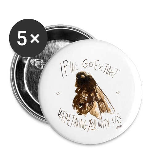 the bee - Buttons small 1''/25 mm (5-pack)