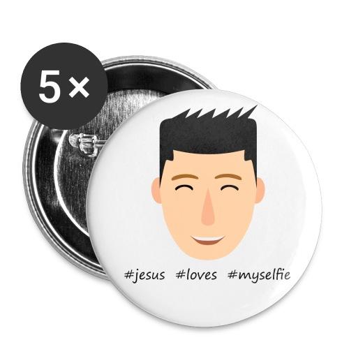 jesus loves myselfie - Buttons klein 25 mm