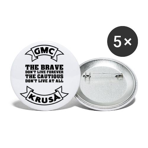 GMC THE BRAVE - Buttons/Badges lille, 25 mm (5-pack)