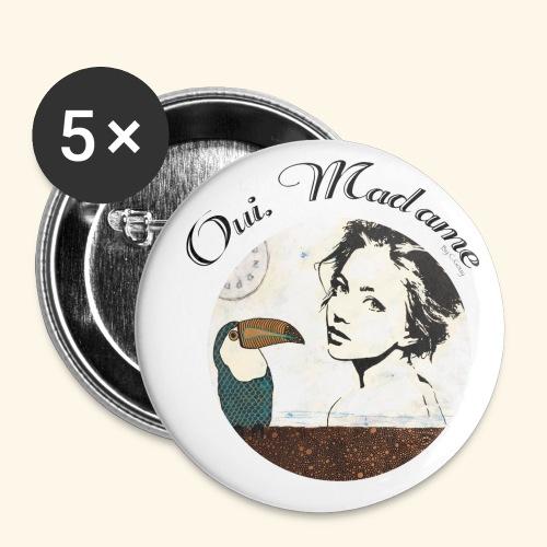 Oui Madame - Chrystelle Gouy - Lot de 5 petits badges (25 mm)
