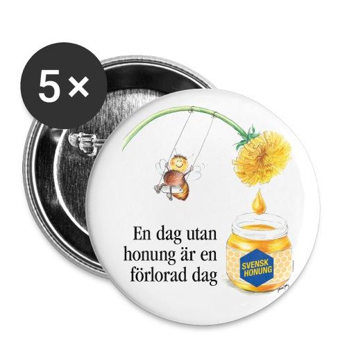 En dag utan honung är en förlorad dag - Små knappar 25 mm (5-pack)