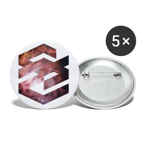 Geometische Galaxie Form - Buttons klein 25 mm (5er Pack)