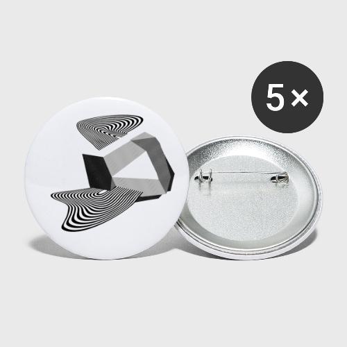 Sharp Curves - Lot de 5 petits badges (25 mm)