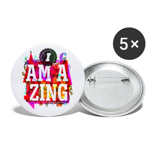 I am Amazing - Buttons small 1''/25 mm (5-pack)