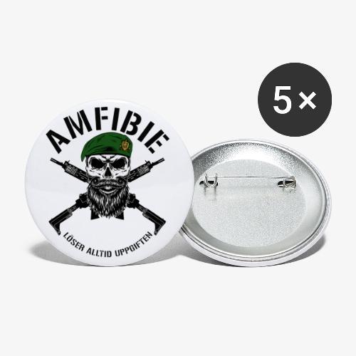 AMFIBIE - Korslagda Ak 5C - Små knappar 25 mm (5-pack)