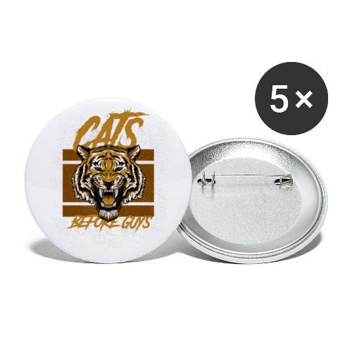 Voor kattenliefhebbers, cats before guys design - Buttons klein 25 mm (5-pack)