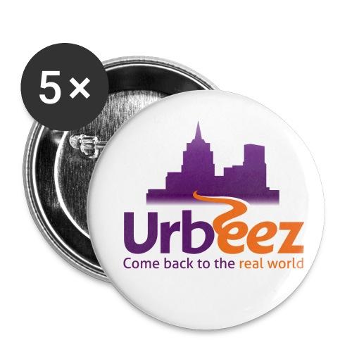 Logo Urbeez - Lot de 5 petits badges (25 mm)