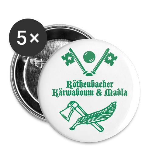 Logo Röthenbacher Kärwa - Buttons klein 25 mm (5er Pack)