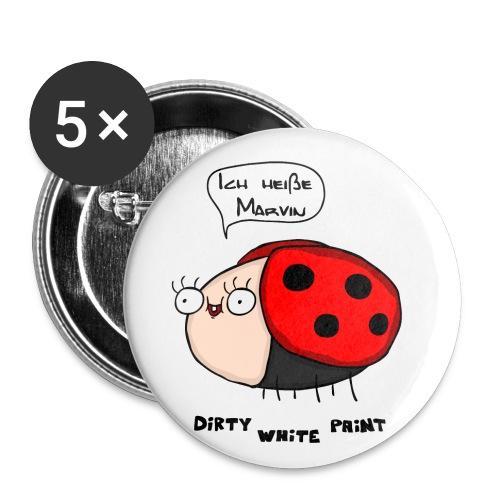 Ich heiße Marvin png - Buttons klein 25 mm (5er Pack)