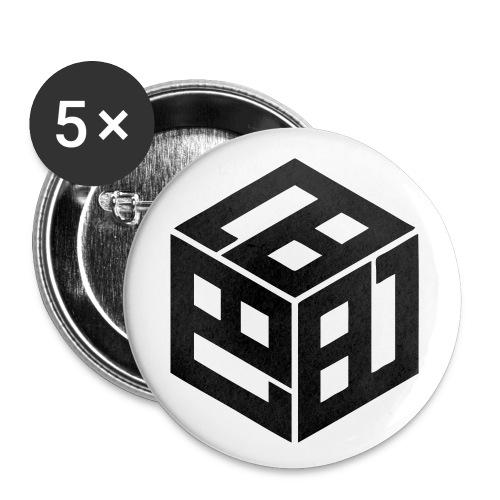 Mitsudomoe Symbol (stylisiert) - Buttons klein 25 mm (5er Pack)