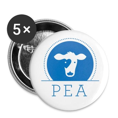 logo pea trnsprt - Lot de 5 petits badges (25 mm)
