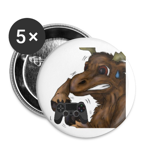 Bigger moose png - Buttons small 1''/25 mm (5-pack)
