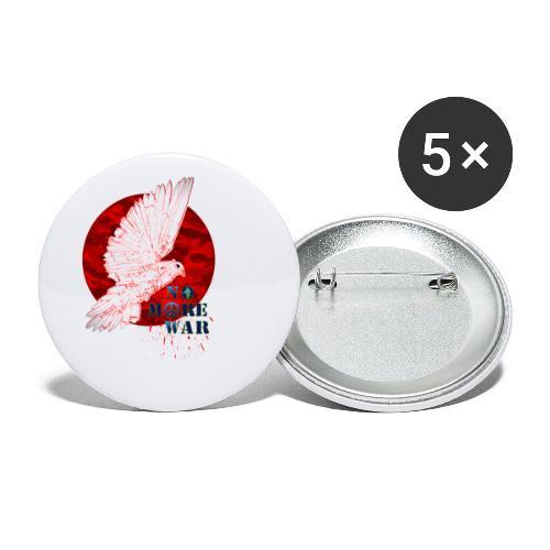 No More War Now - Buttons klein 25 mm (5er Pack)