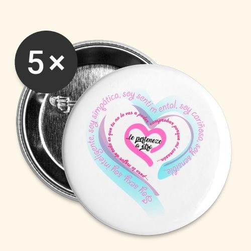 Corazón Ajeno - Paquete de 5 chapas pequeñas (25 mm)