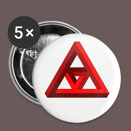 illusion - Buttons/Badges lille, 25 mm (5-pack)