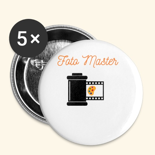 Foto Master 2nd - Buttons/Badges lille, 25 mm (5-pack)