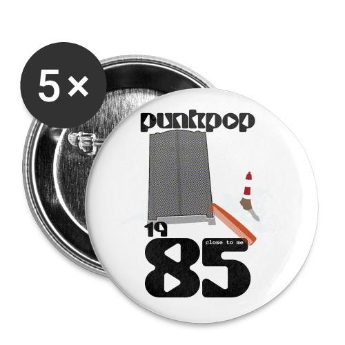Dark Close PunkPop 1985 - Confezione da 5 spille piccole (25 mm)